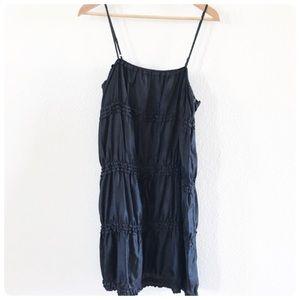 Theory black 100% silk dress S